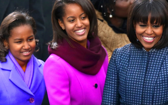 The First Family at the second inauguration of President Barack Obama.