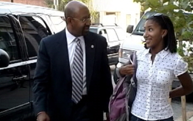 Olivia Nutter, daughter of Philadelphia Mayor Michael Nutter, was assaulted last week at a track meet, her mother told NBC10 Philadelphia.
