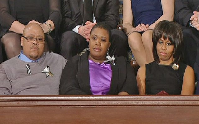 Nate and Cleo Pendleton, the parents of Chicago shooting victim Hadiya Pendleton, sat with First Lady Michelle Obama during the president's State of the Union address.