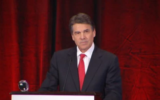 Texas Gov. Rick Perry address a Right to Life Conference in Dallas on Thursday.