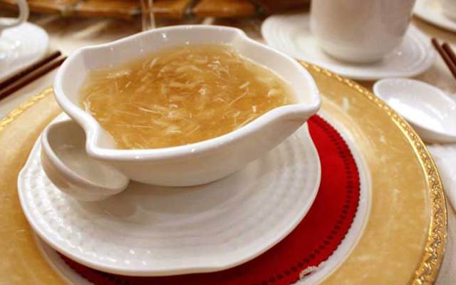 Shark fin soup, a Chinese delicacy, will be outlawed in California beginning Monday, July 1, 2013, when a controversial law ban on the expensive product goes into effect.