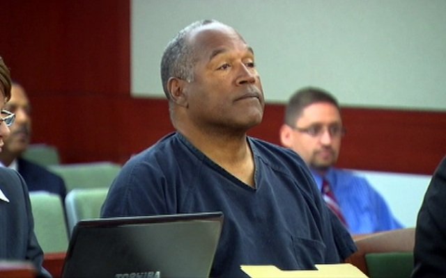 OJ Simpson in court Monday May 13, 2013.