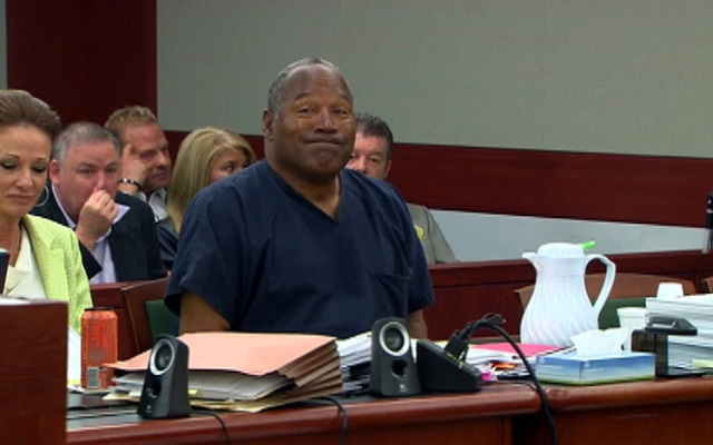 OJ Simpson in court Thursday May 16, 2013.