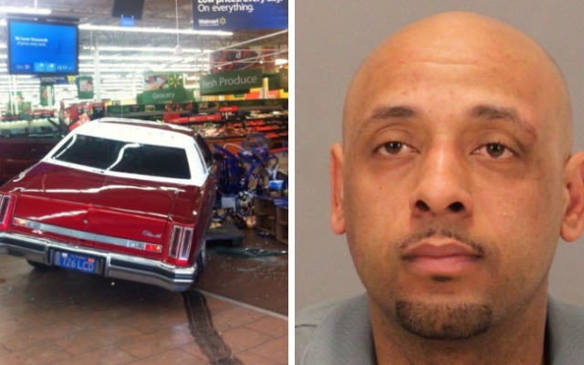 Haamic Zaid, 33, of Seaside, Calif., right, drove this Cutlass, left, into a Walmart in San Jose. He now faces 12 charges in connection with the bizarre Easter Sunday attack.
