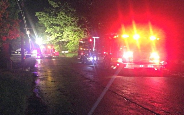 Two people were killed and three injured when their car crashed into a tree on Abbe Road Saturday night.