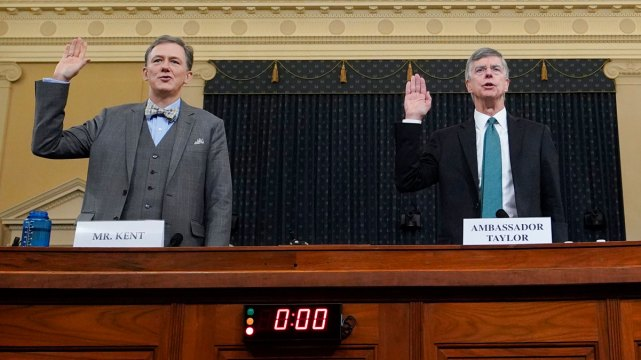 Top Moments From First Public Trump Impeachment Hearing