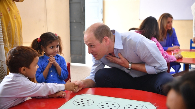 British Royals Share Sweet Moments With Students in Pakistan