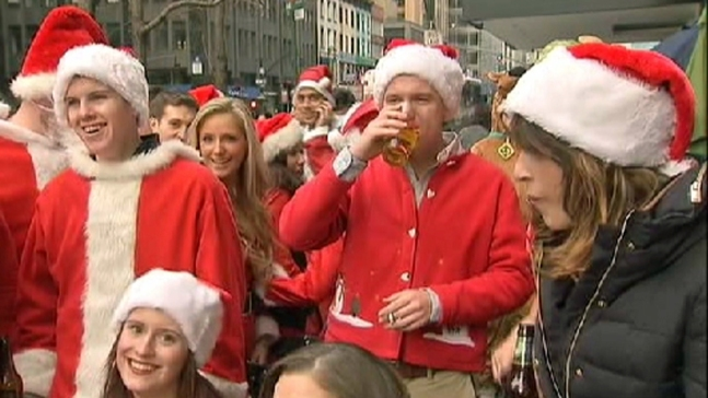 LIRR, Metro-North Ban Alcohol for SantaCon Weekend