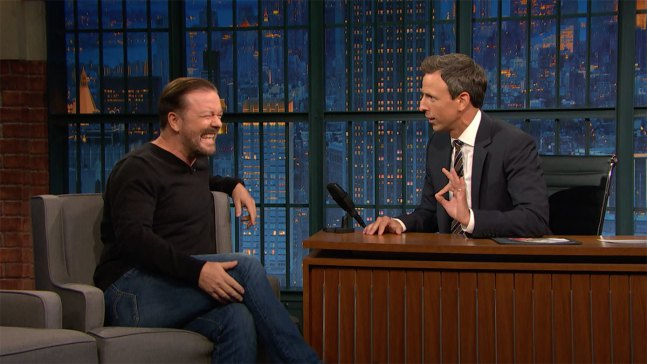 'Late Night': Gervais Once Nursed a Squirrel Back to Health