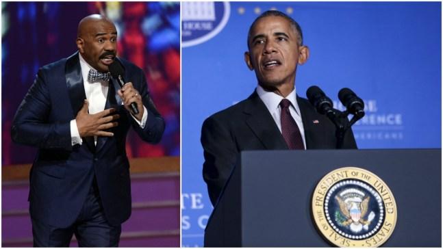 Obama Slams Trump During Steve Harvey Interview