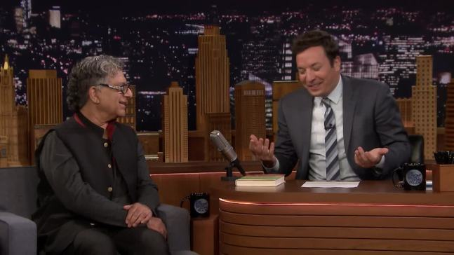 'Tonight': Deepak Chopra Guides Jimmy Fallon in Meditation