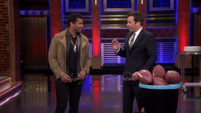 'Tonight': Random Object Target Practice With Russell Wilson