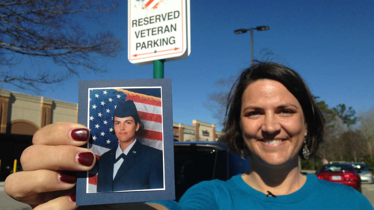 An Air Force veteran found a nasty note awaiting her when she got back to her car in a North Carolina parking lot.