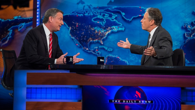 "NYC Mayor Makes Debut on ""The Daily Show"""