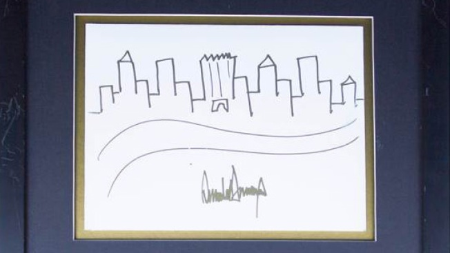 Trump's Manhattan Skyline Sketch Fetches Nearly $30,000