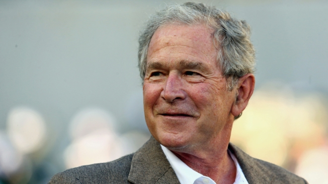 George W. Bush Paints Wounded Soldiers' Portraits on Veterans Day