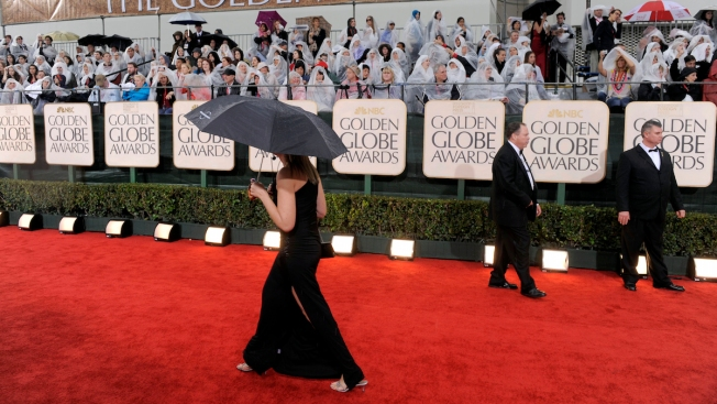 Hollywood Launches Awards Season Amid Rare Rainstorms