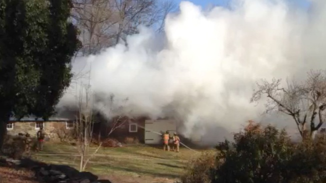 Fire Engulfs Barn in Bloomfield