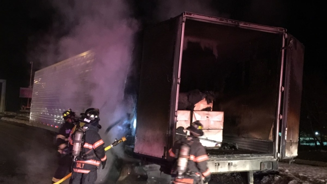 Tractor-Trailer Catches Fire on I-84 in Danbury