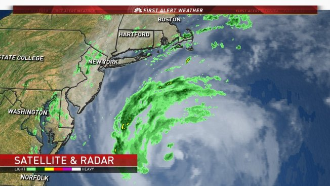 Tropical Storm Jose almost stalled off US Northeast