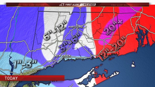 Snow Storm Weather Map.March 13 2018 Snow Storm Nbc Connecticut