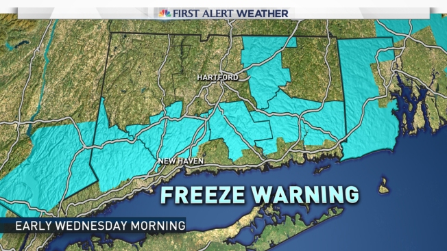 Freeze Warnings Issued Starting Tuesday Night, Snow Possible Thursday