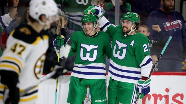 Aho Leads Carolina Past Bruins 5-3 on Whalers Night - NBC Connecticut 0610694b7