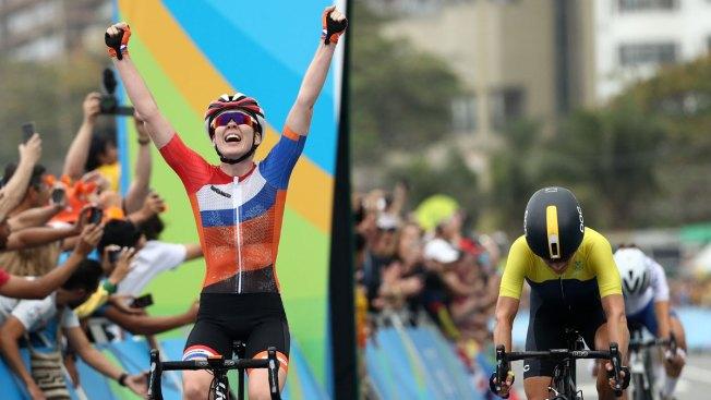 Dutch Cyclist Anna Van Der Breggen Wins Gold in Women's Road Race Cycling