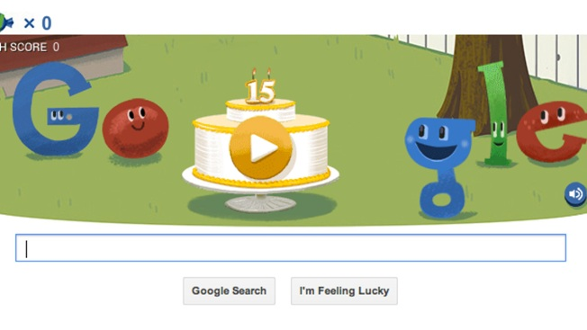 Google Celebrates 15th Birthday With New Doodle