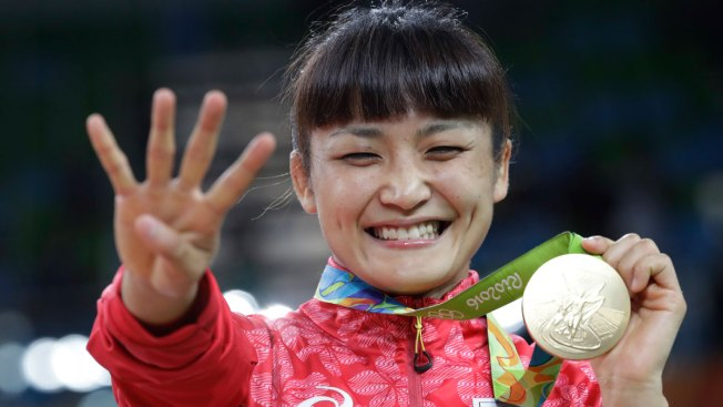 Japan Sweeps 1st Day of Women's Wrestling Golds, 1 Makes History