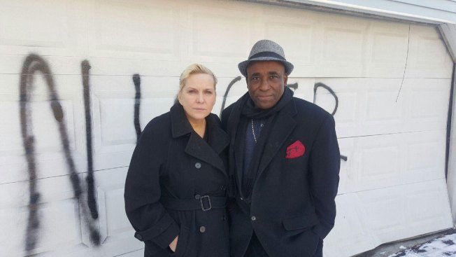 Biracial Stamford Couple's Home Vandalized With Spray Painted Slur