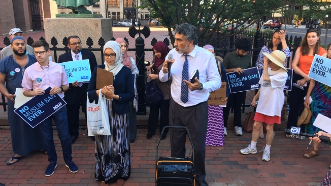 Muslim & Civil Rights Groups Protest Travel Ban Ruling