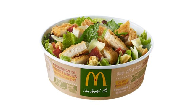New McDonald's Salad Has More Fat, Calories Than a Big Mac