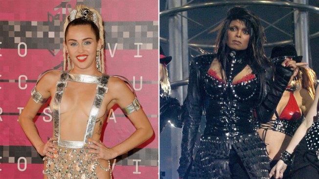 Miley Cyrus' Bare-Nipple Flash Nothing Like Janet Jackson's