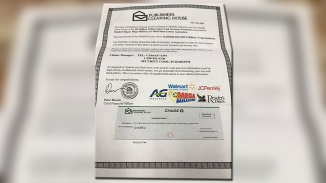 Wolcott Police Warn of Publishers Clearing House Scam - NBC Connecticut