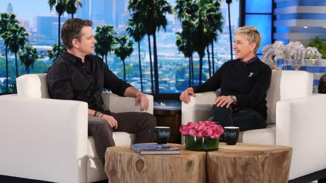 Matt Damon Talks New Film on 'Ellen'