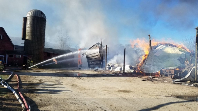 Barn Destroyed by Fire in Salisbury