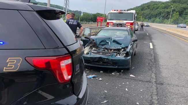 Police Car Involved in Crash on Route 8 in Seymour - NBC Connecticut