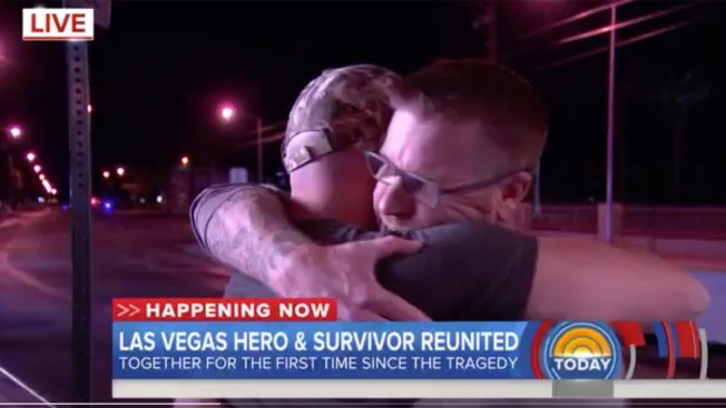 Vegas Gunshot Victim Reunites With Stranger Who Helped Save His Life