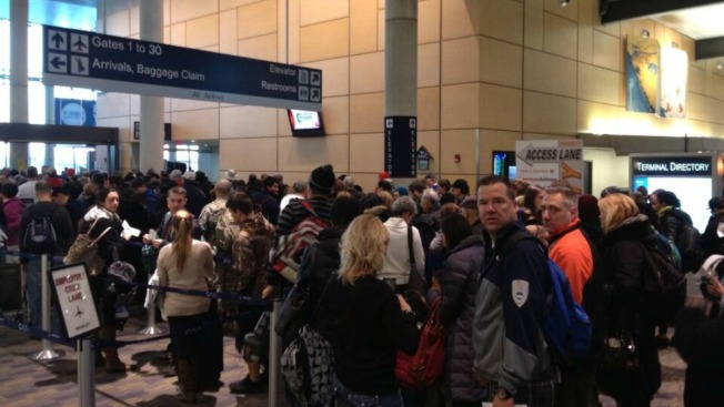 Long Lines at Bradley Airport