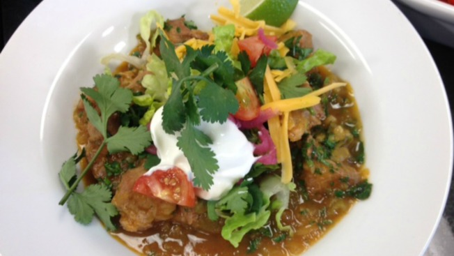 Pork and Green Chile Stew Colorado Style (chili verde)