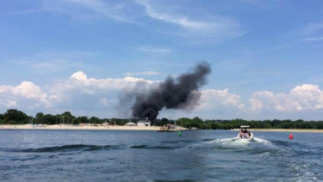 Fire at South Benson Marina Damages Multiple Boats