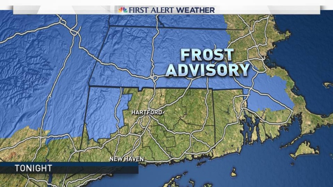 Frost Advisory for Part of State Monday Morning