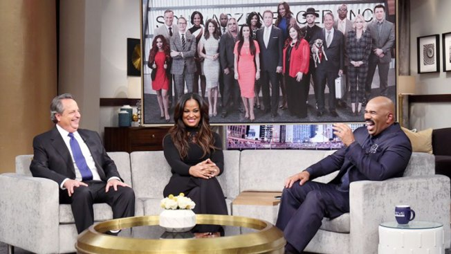 Laila Ali and Jon Lovitz Visit Steve Harvey