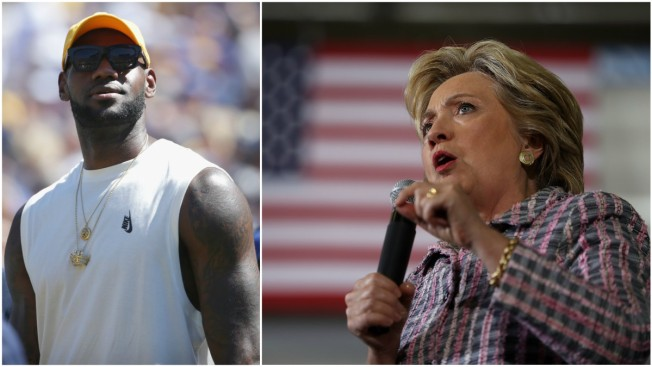 cea0c91af2c LeBron James Throws Support Behind Hillary Clinton - NBC Connecticut