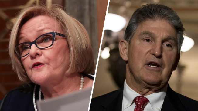 Sen. McCaskill's Rib Cracked From Sen. Manchin's Heimlich Maneuver