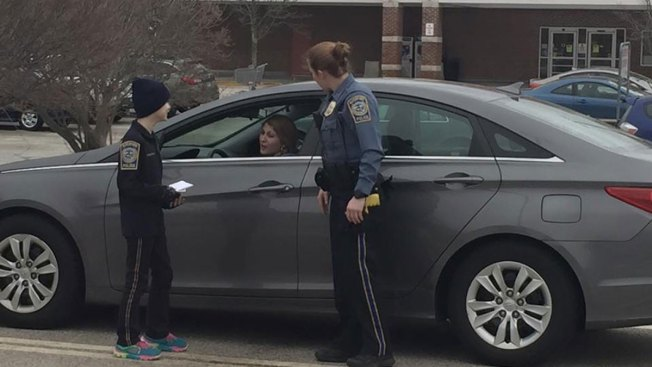 9-Year-Old Girl With Cancer Helps Patrol Streets of Waterford