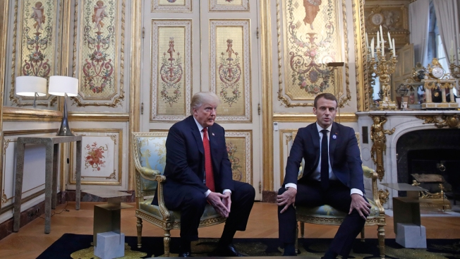Trump Responds to Skipped WWI Memorial Criticism, Attacks France's Macron