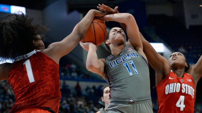 No. 1 UConn beats No. 12 Ohio St 82-63 for 85th Straight Win