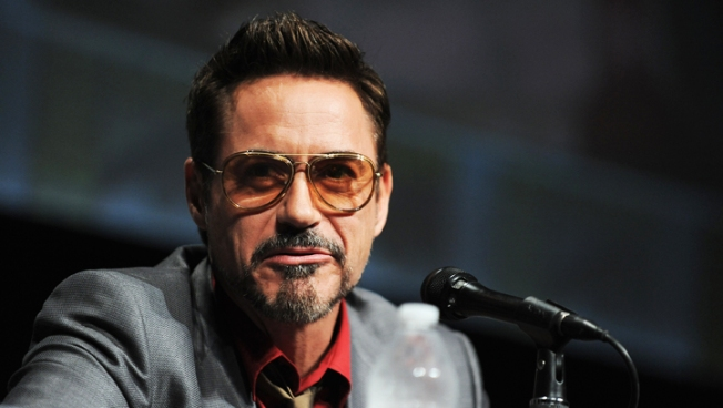 "Robert Downey Jr. Spends ""Iron Man 3"" Day Off Bonding With Wife Susan and Baby Exton"